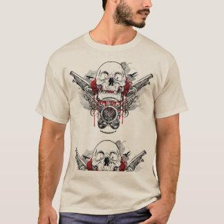 スカルおよび海賊ピストルグラフィックのTシャツ Tシャツ