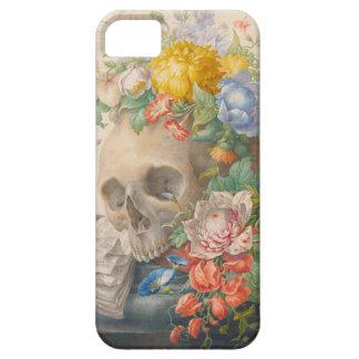 スカルおよび花のiPhone 5の場合 iPhone SE/5/5s ケース