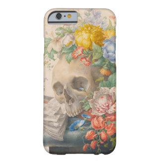 スカルおよび花のiPhone 6/6s、「やっとそこに」場合 Barely There iPhone 6 ケース