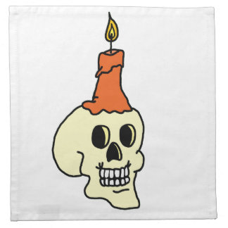 スカルおよび蝋燭のナプキン プリントナプキン