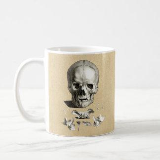 スカルおよび骨の整形外科のスケッチ コーヒーマグカップ