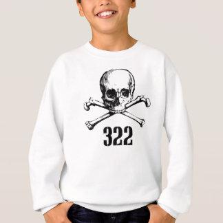 スカルおよび骨322 スウェットシャツ