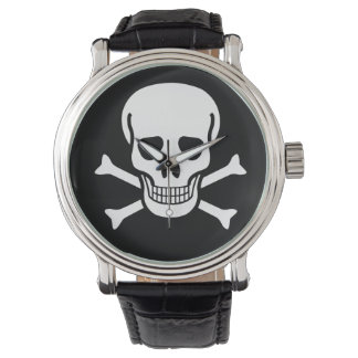 スカルおよび骨 腕時計