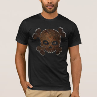 スカルおよび骨Copperhead Tシャツ