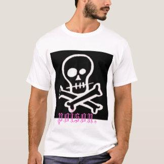 """スカルかcrossbone """"毒"""" tシャツ"""