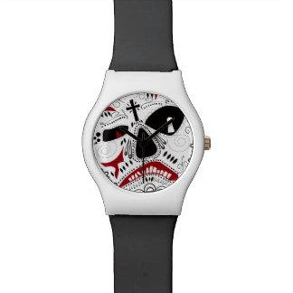 """""""スカルによってContidesignによってI""""が腕時計開花します 腕時計"""