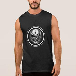 スカルに袖なしのTシャツをまばたきさせます 袖なしシャツ