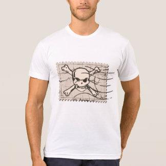 スカルのひびのスタンプ Tシャツ