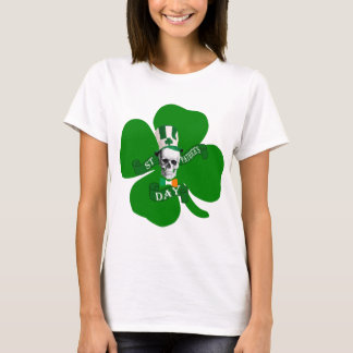 スカルのアイルランド語St patricks Tシャツ