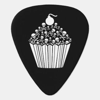 スカルのカップケーキのギターピック ギターピック