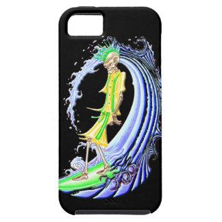 スカルのサーファー iPhone SE/5/5s ケース