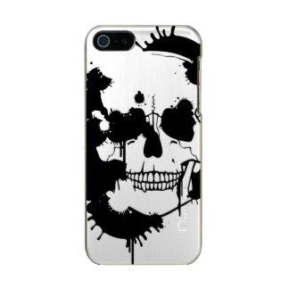 スカルのシルエットを作成するインクしみ INCIPIO FEATHER® SHINE iPhone 5S ケース