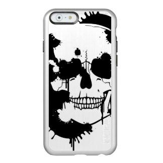 スカルのシルエットを作成するインクしみ INCIPIO FEATHER® SHINE iPhone 6 ケース