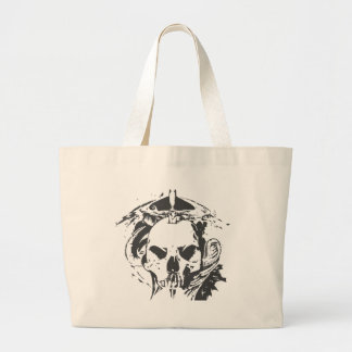 スカルのドラゴン ラージトートバッグ