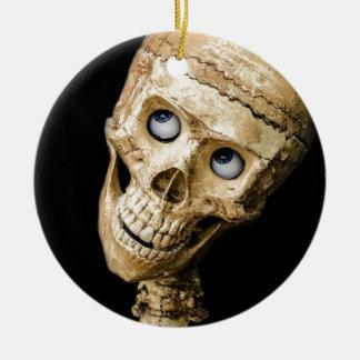 スカルのハロウィンの人々のマスクの模造の恐い休日 セラミックオーナメント