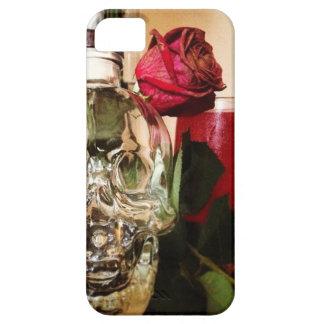スカルのバラおよび飲み物 iPhone SE/5/5s ケース