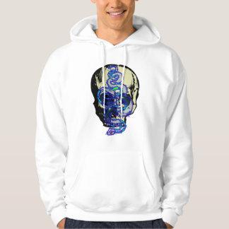 スカルのフード付きスウェットシャツのヘビ パーカ