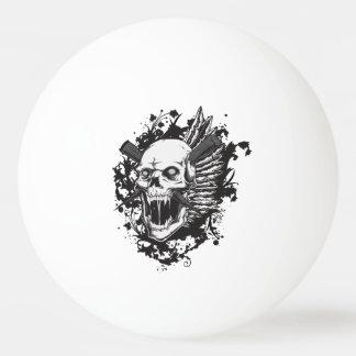 スカルのヘッドハンターの落書き 卓球ボール