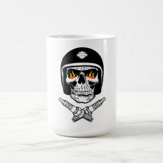スカルのヘルメット コーヒーマグカップ