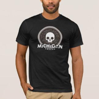 スカルのミシガン州のかわいいパンクのTシャツ Tシャツ