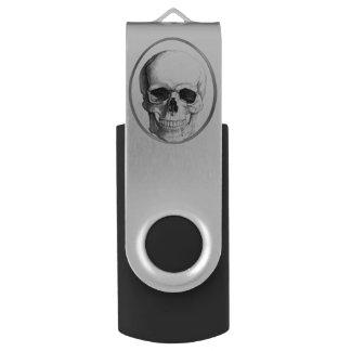 スカルの円USBドライブ USBフラッシュドライブ