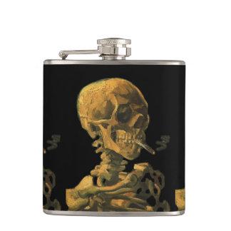 スカルの喫煙のタバコの芸術 フラスク