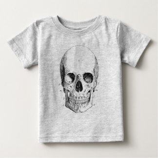 スカルの図表の乳児のティー ベビーTシャツ