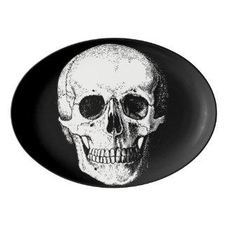 スカルの大皿 磁器大皿