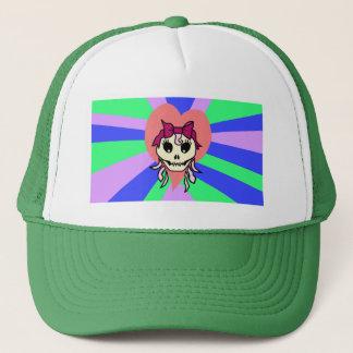 スカルの女の子の帽子 キャップ
