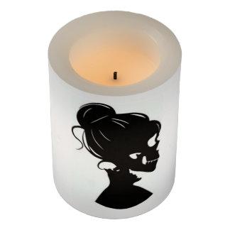 スカルの女性のシルエットLEDの蝋燭 LEDキャンドル