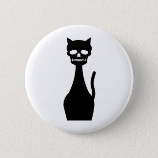スカルの子猫 5.7CM 丸型バッジ