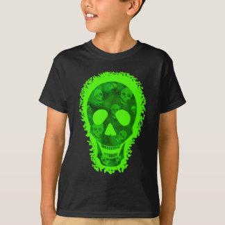 スカルの幽霊の大きいスカルの「トリック・オア・トリートか。 Tシャツ