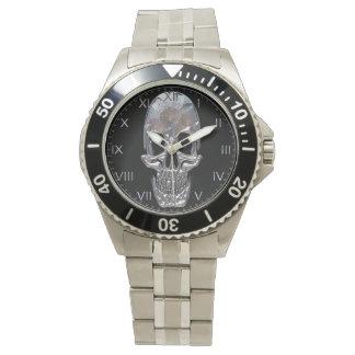 スカルの幽霊の影 腕時計