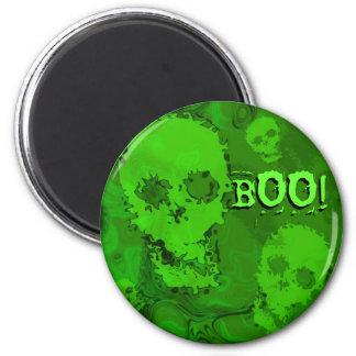 スカルの幽霊「ブーイング!」 冷蔵庫用マグネット マグネット