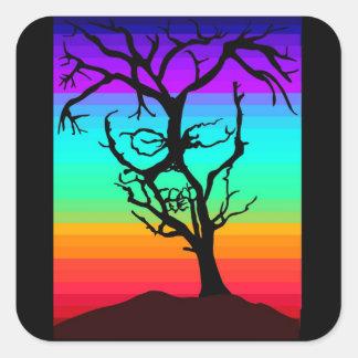 スカルの木 スクエアシール