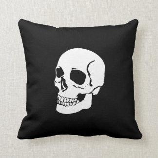スカルの枕死の白いスカルの声明の枕 クッション