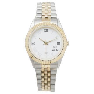 スカルの汚れた白い男の子の腕時計の白 腕時計
