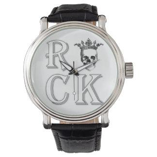 スカルの石の腕時計 腕時計