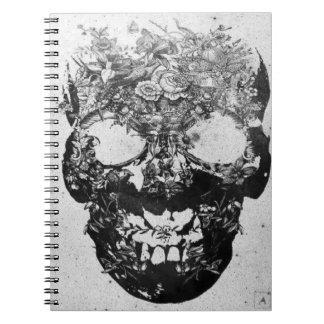 スカルの花のノート ノートブック