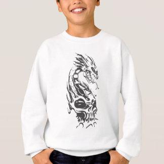 スカルの蛇のドラゴン スウェットシャツ