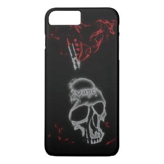 スカルの赤い煙Vape iPhone 7 Plusケース