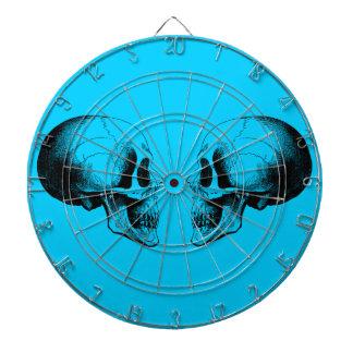 スカルの金属のおりのターコイズのダート盤 ダーツボード
