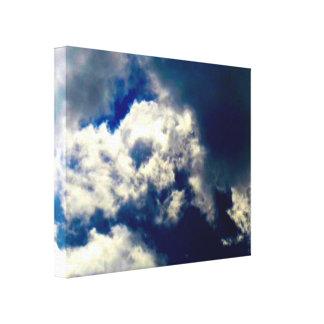 スカルの雲のキャンバスプリント キャンバスプリント