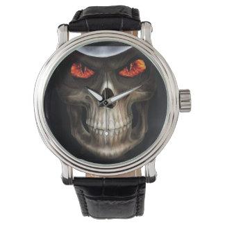 スカルの電話 腕時計