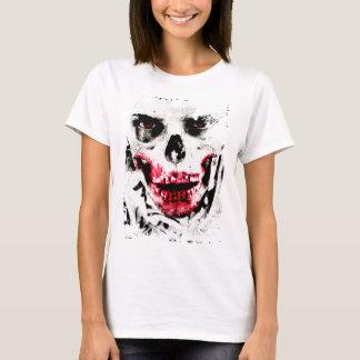 スカルの顔のゾンビの人の気色悪い恐怖 Tシャツ