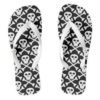 スカルの骨が交差した図形の海賊ビーチサンダル ビーチサンダル