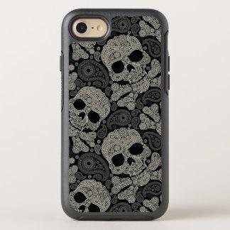 スカルの骨が交差した図形パターンAppleのiPhone 7の箱を砂糖で甘くして下さい オッターボックスシンメトリーiPhone 8/7 ケース