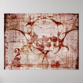 スカルのDuggeryのゴシック様式芸術ポスター ポスター