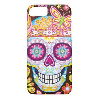 スカルのiPhoneの7/6S箱を-死者の日砂糖で甘くして下さい iPhone 8/7ケース