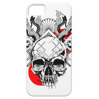 スカルのiPhone 5Sのやっとそこに場合-炎1 iPhone SE/5/5s ケース